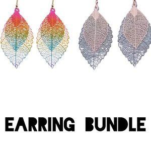 Earring Bundle two fish hook earrings